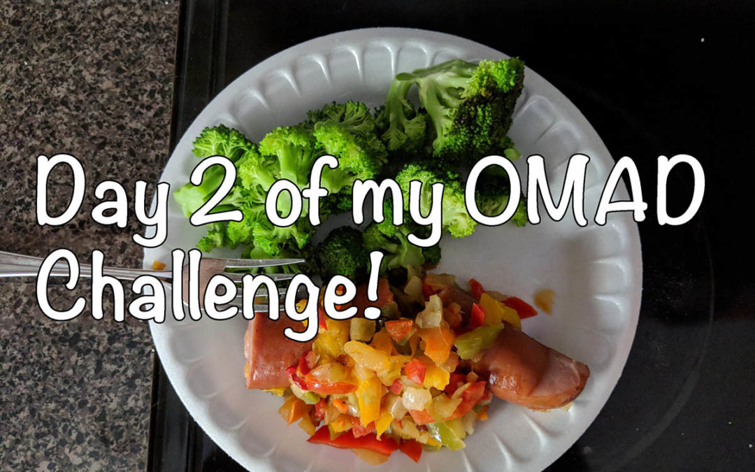 What I eat on OMAD, Day 2 of the 30 day OMAD Challenge