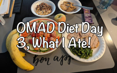 What I eat on OMAD, Day 3 of the 30 day OMAD Challenge